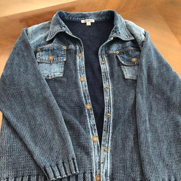 Jean sweater denim jacket